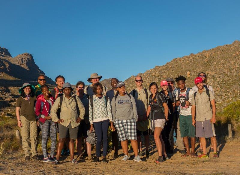 The group of students and researchers who went on the Cedarberg field trip – photo Jeremy Shelton