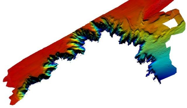 multibeam bathymetry map